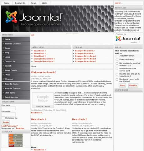 Приклад сайту на Joomla