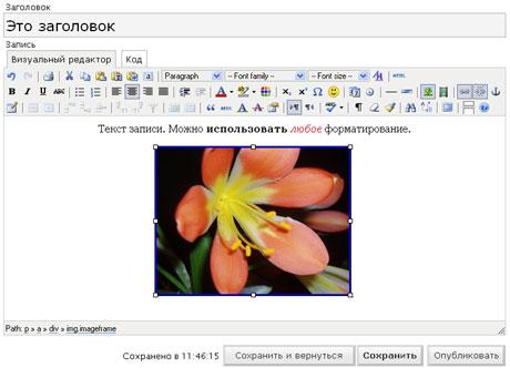 Розширений візуальний редактор WordPress